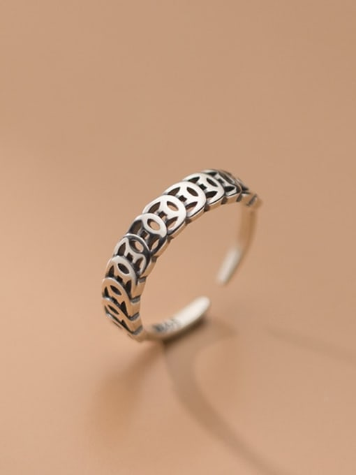 Rosh 925 Sterling Silver Coin Vintage Band Ring 1