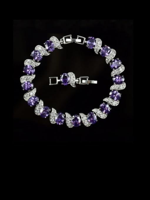 L.WIN Brass Cubic Zirconia Geometric Luxury Bracelet