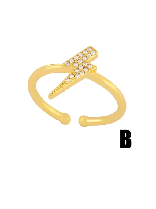 CC Brass Cubic Zirconia Irregular Dainty Band Ring 4