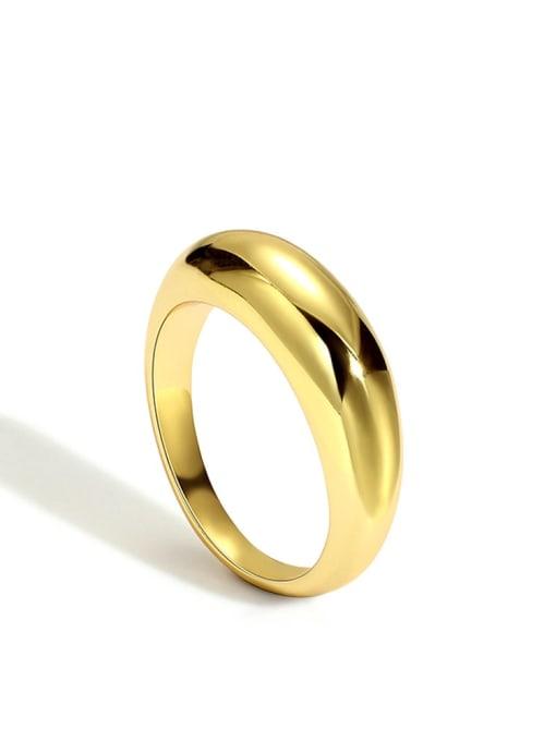 Gold plain ring Brass Smooth Round Minimalist Band Ring