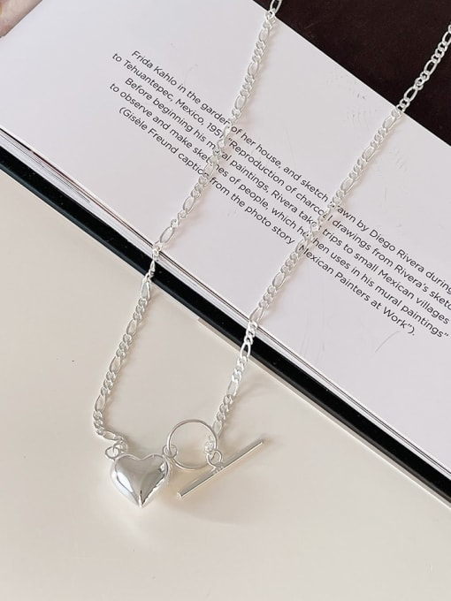Boomer Cat 925 Sterling Silver Heart Minimalist Necklace 3