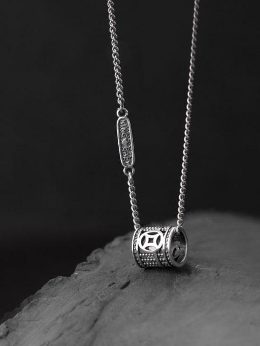Rosh 925 Sterling Silver Geometric Vintage Pendant Necklace