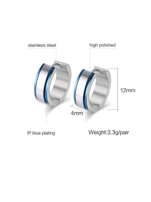 CONG Stainless steel Geometric Minimalist Huggie Earring 1