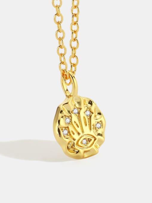 CHARME Brass Rhinestone Irregular Minimalist Necklace 0