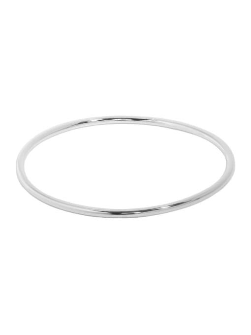 Plain silver 925 Sterling Silver Geometric Minimalist Cuff Bangle