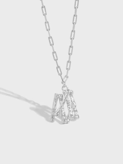 DAKA 925 Sterling Silver Letter Minimalist Necklace