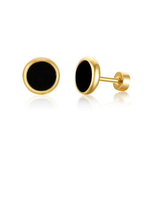 Style 6 Stainless steel Turquoise Round Vintage Stud Earring