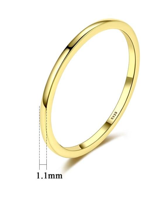 CCUI Brass Geometric Minimalist Band Ring 4