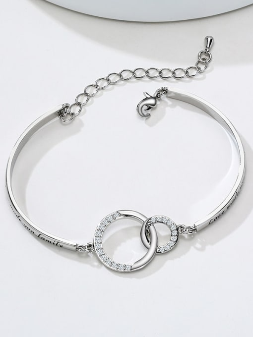 CONG Titanium Steel Hollow  Geometric Minimalist Bracelet 0