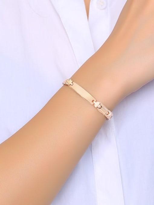 CONG Stainless steel Geometric Minimalist Bracelet 2