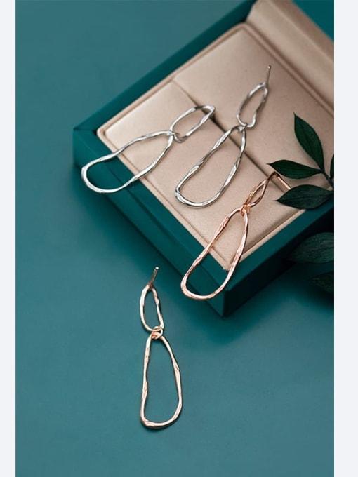 Rosh 925 Sterling Silver Irregular Minimalist Drop Earring 4
