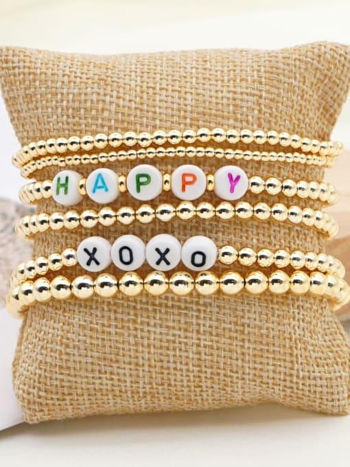 Roxi Stainless steel MGB Bead Letter Bohemia Beaded Bracelet