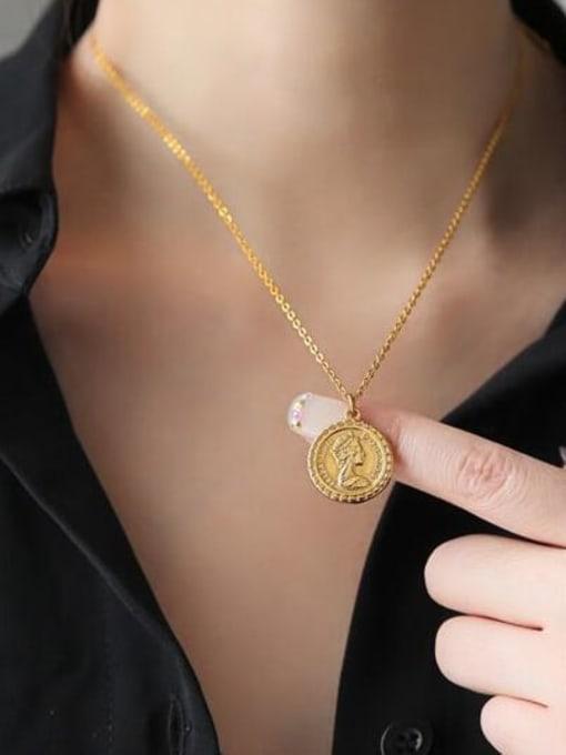 A TEEM Titanium Round Vintage pendant Necklace 1