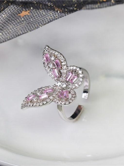 DUDU Brass Cubic Zirconia Butterfly Luxury Band Ring 1