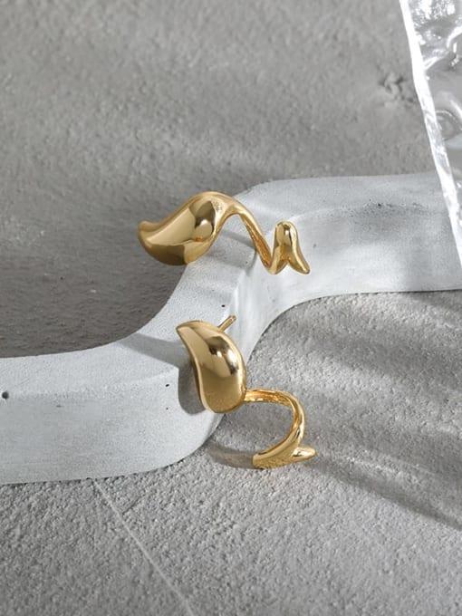 DAKA 925 Sterling Silver Irregular Vintage Stud Earring 4