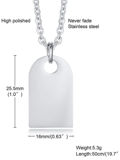 CONG Titanium Steel Geometric Vintage Necklace 1