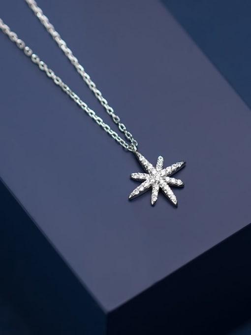 Rosh 925 Sterling Silver Rhinestone  Star Dainty Necklace 2