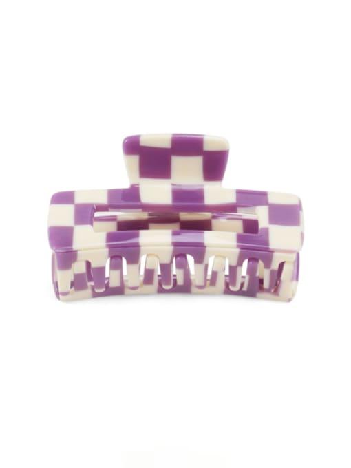 Lattice purple Cellulose Acetate Minimalist Geometric Zinc Alloy Jaw Hair Claw