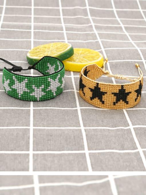 Roxi Multi Color MGB Bead Star Bohemia Adjustable Bracelet 0