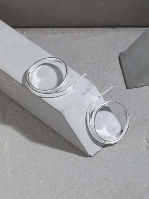 DAKA 925 Sterling Silver Geometric Vintage Hoop Earring 1