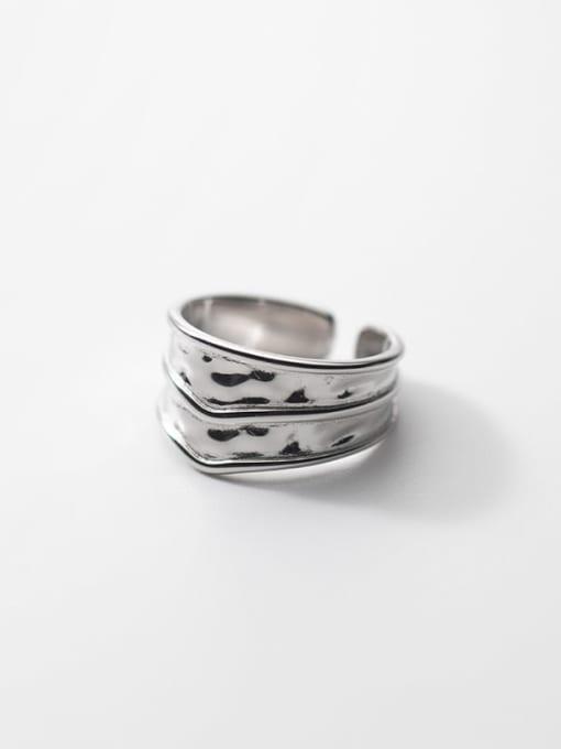 Rosh 925 Sterling Silver Geometric Vintage Band Ring 3
