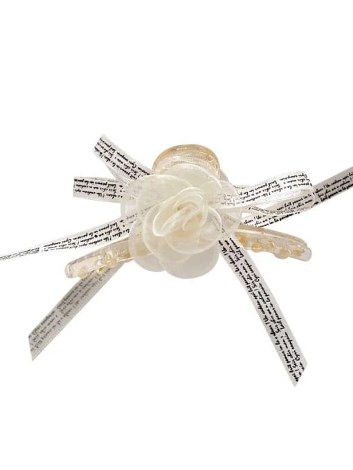 Chimera Alloy Silk Minimalist Flower  Jaw Hair Claw 4