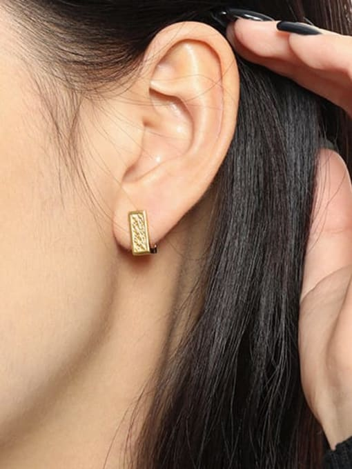 DAKA 925 Sterling Silver Geometric Minimalist Stud Earring 2