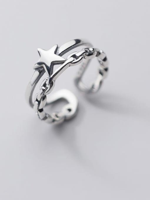 Rosh 925 Sterling Silver Star Vintage Stackable Ring 0