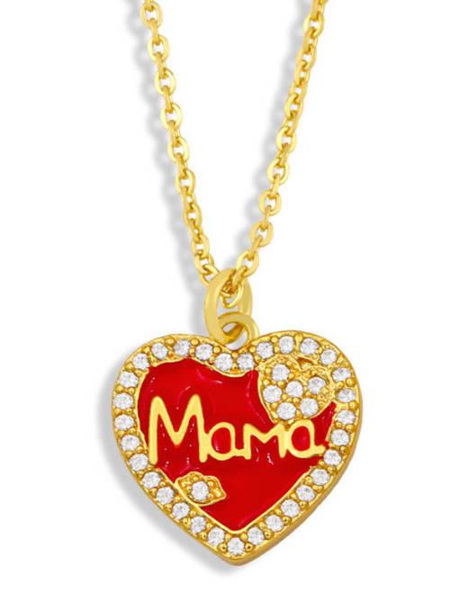 CC Brass Enamel Heart Vintage Necklace 2