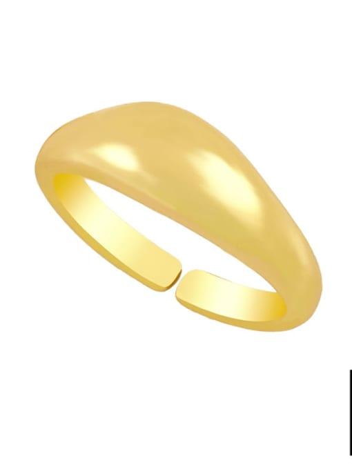 B Brass Water Drop Hip Hop Band Ring