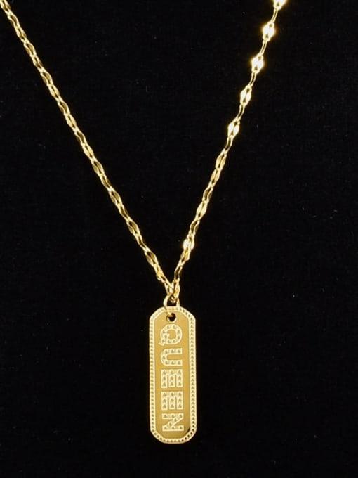 A TEEM Titanium Steel Geometric Vintage Necklace 0