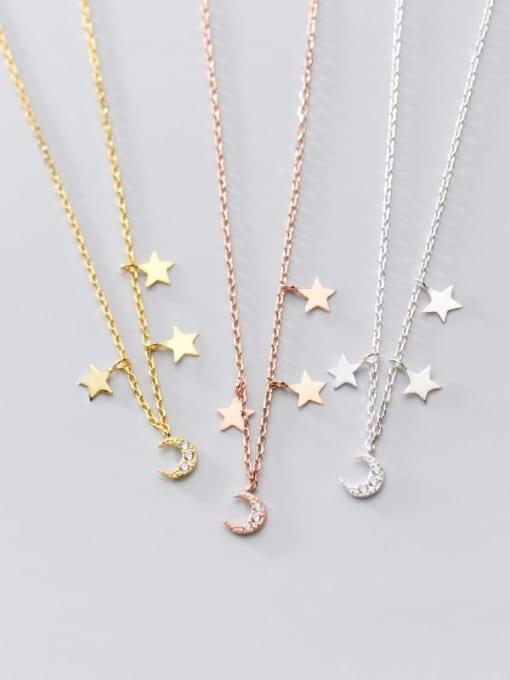 Rosh 925 Sterling Silver Star Minimalist Necklace 4