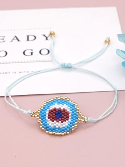 MI B210013C Multi Color  Miyuki DB Geometric Bohemia Adjustable Bracelet