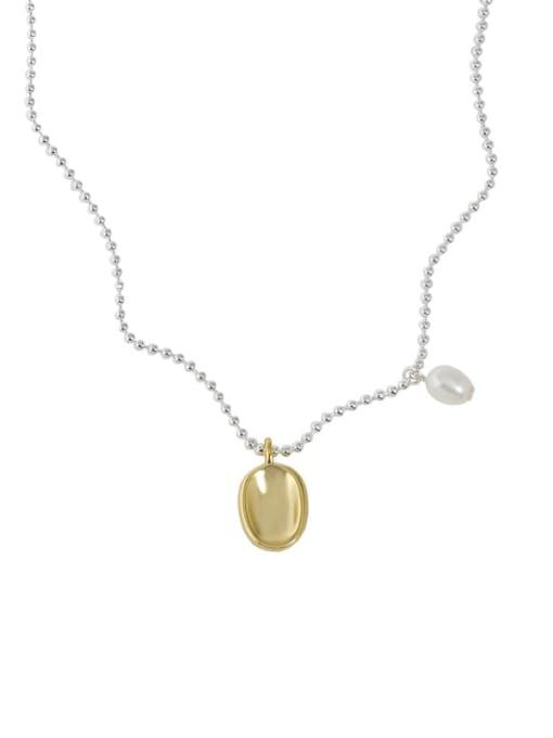 silver 925 Sterling Silver Irregular Vintage Necklace