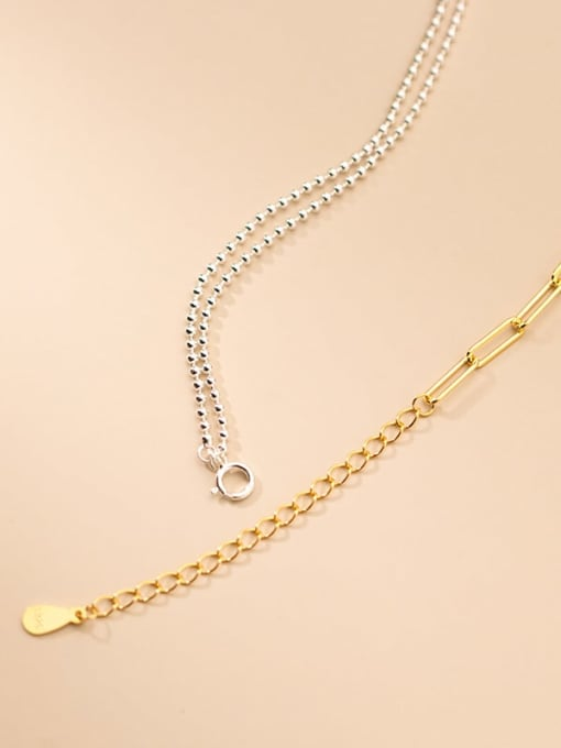 Rosh 925 Sterling Silver Asymmetry Geometric Minimalist Multi Strand Necklace 1