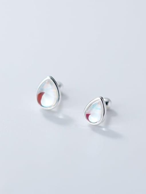 Rosh 925 Sterling Silver Opal Water Drop Minimalist Stud Earring 3