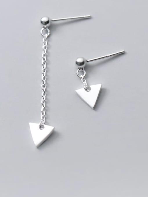 Rosh 925 Sterling Silver Triangle Minimalist Stud Earring
