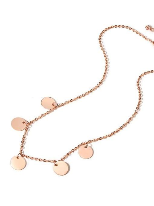 CONG Titanium Steel Geometric Minimalist Necklace 2