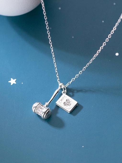 Rosh 925 Sterling Silver Geometric Minimalist Necklace 1