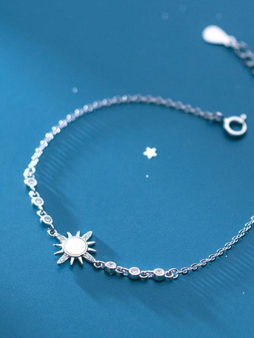 Rosh 925 Sterling Silver Shell Flower Minimalist Link Bracelet 1