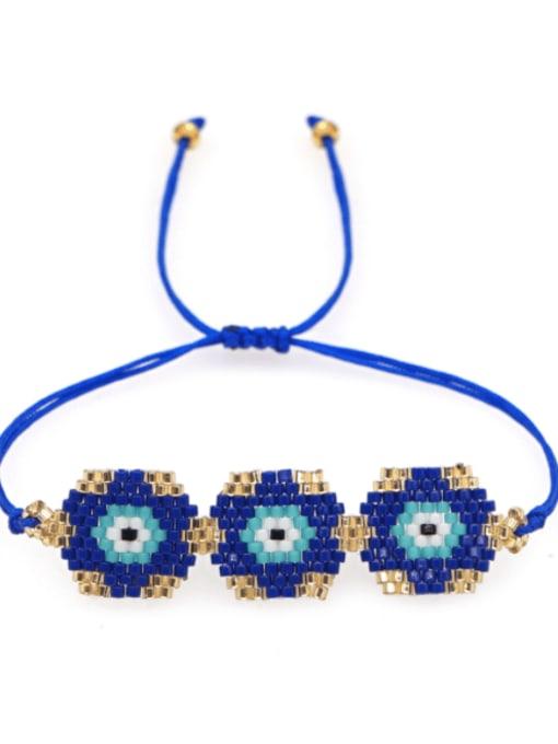 Roxi Multi Color Miyuki DB  Bead Geometric Bohemia Adjustable Bracelet 0