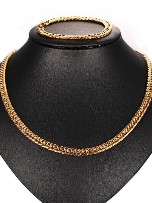 CONG Titanium Steel Geometric Chain Vintage Necklace 2