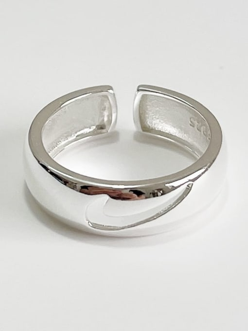 Boomer Cat 925 Sterling Silver Geometric Vintage Stackable Ring 2
