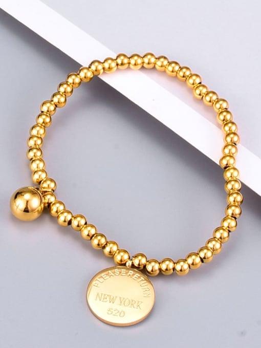 A TEEM Titanium Letter Vintage Beaded Bracelet 2