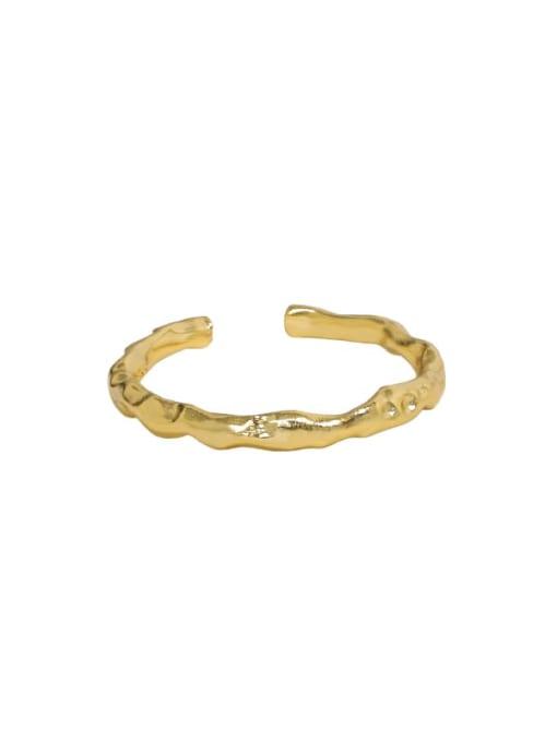 18K Gold 925 Sterling Silver Irregular Minimalist Band Ring