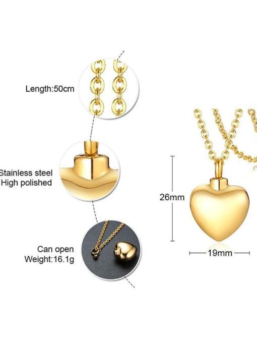 CONG Titanium Steel Smooth Heart Minimalist  Pendant Necklace 4