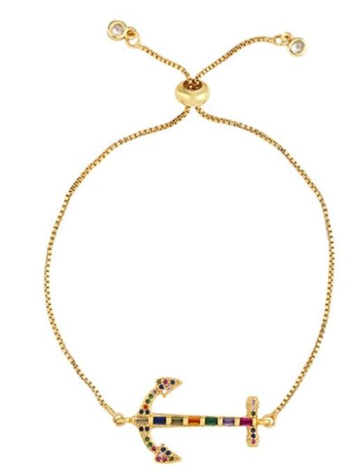CC Brass Cubic Zirconia Crown Ethnic Adjustable Bracelet 3