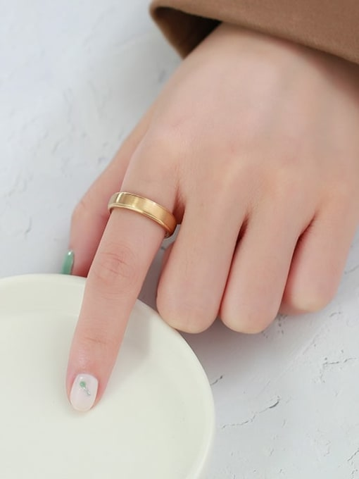 CONG Stainless steel Geometric Minimalist Band Ring 2