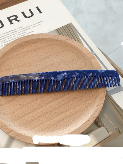 K052 Sapphire Cellulose Acetate Minimalist Geometric Hair Comb