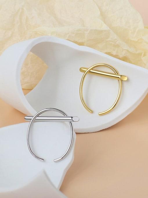 CHARME Brass Irregular Minimalist Band Ring 1